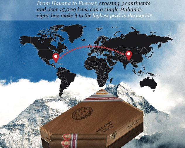 The First Cigar Box to reach the Top of The World! Saint Luis Rey Herfing!